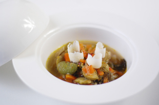 Minestrone aux fèves